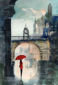 E Chester Painting painting rainy day chester by kj carr more watercolour paintings ...