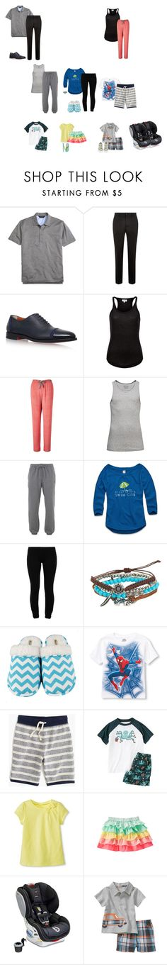 """The Johnston Family  1"" by the-hope-family ❤ liked on Polyvore featuring Brooks Brothers, Santoni, Calvin Klein, Jack & Jones, Lyle & Scott, LnA, Aéropostale, Leisureland, J.Crew and Gymboree"