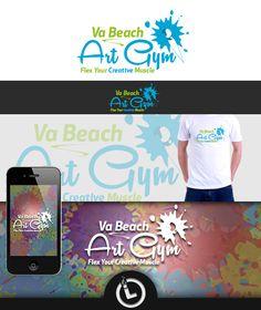Logo for Va Beach Art Gym Logo Branding, Logos, Beach Art, Gym, Creative, Beach Artwork, Work Outs, Logo, Gymnastics Room