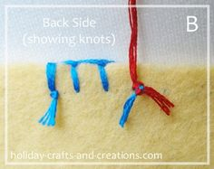 Blanket stitch - starting, tying off, continuing when you run out of thread.
