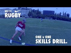 NIKE Rugby Camps Skills Drill: One v One - YouTube