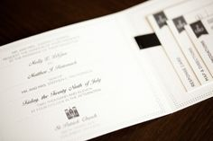 Black and White with simple prints Wedding Invitation