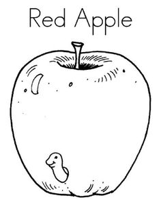Red Apple Coloring Pages Print