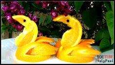 Art In Orange Swan - Fruit Carving Garinsh