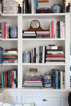I'd really like to style my bookcases, but I have a lot of books. Kinda like this person. :)