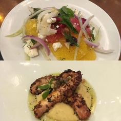 Tasty bites @helengreekfoodandwine. Loved the fennel & citrus salad and the grilled octopus. This place is a charmer. #houstoneats