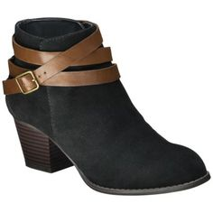 Women's Mossimo Supply Co. Kiriana Ankle Boot with Leather Wrap - Black