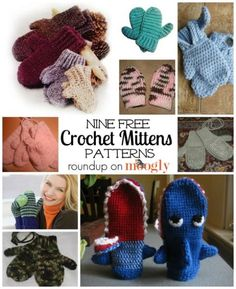 Get free #crochet mittens patterns for the whole family! On Mooglyblog.com