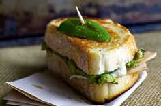 Avocado and Jalapeno Grilled Cheese Sandwich- click for 13 great #vegan sandwich pics  recipes!