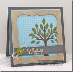 Burlap Background, Fine Check Background, Out on a Limb, Blueprints 19 Die-namics - Barbara Anders #mftstamps