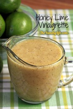 Honey Lime Vinaigrette -- tangy and slightly sweet dressing for salad greens