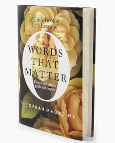 Day 18 of LuxeFind's Ultimate Giveaway - Oprah's Book - Words That Matter    http://bit.ly/GHPbK2