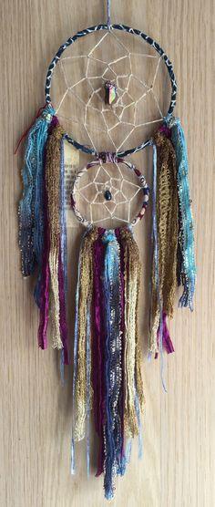 bohemian spirit double dreamcatcher by kmichel on Etsy