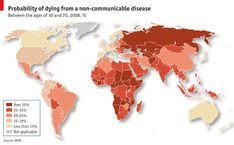 Where are you most likely to die from a non-communicable disease?  Death Chart | The Economist