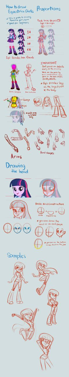 Equestria Girls Tutorial: Proportions by Kanduli on DeviantArt