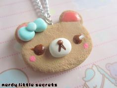 Hey, I found this really awesome Etsy listing at http://www.etsy.com/listing/121075363/fairy-kei-lolita-bear-cookie-necklace