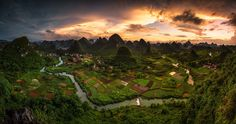 Guangxi Mountains, China.