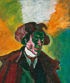 Bohumil Kubišta, Autoportrét (Vlastní podobizna v haveloku) 1907-1908