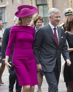 Queen Mathilde - Belgian Royals Visit the Netherlands