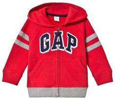 Gap Modern Red Stripes Logo Hoodie