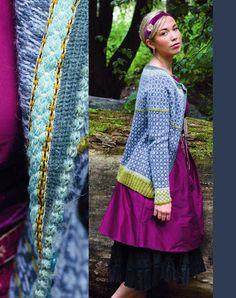 Ravelry: Wiolakofta i tynn alpakka pattern by Kristin Wiola Ødegård Fair Isle Knitting Patterns, Fair Isle Pattern, Knitting Stitches, Knitting Yarn, Redo Clothes, Norwegian Style, Cardigan Design, Nordic Sweater, Yarn Shop