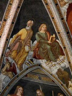 Simone II Baschenis - affresco - 1539 - abside Chiesa di San Vigilio a Pinzolo (Trento, Italia)