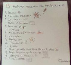 15 redenen waarom de herfst leuk is! #autumn #quote #reasons