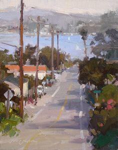 Towards Morro Bay by Jill Carver Oil ~ 14 x 11