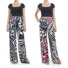 ebclo- Black & White Polka Dots Print Long Wide Leg Pants Maxi Trousers New #ebclo #CasualPants $19.00 Free Domestic Shipping