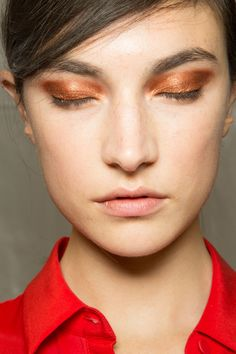 copper eyeshadow at Chloe, Spring 2013.