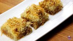 Kadaif: A Sweet & Crispy Dessert (Kadayif) Recipe Albanian Cuisine, Albanian Recipes, Turkish Recipes, Good Food Image, Spinach Rolls, Middle Eastern Desserts, Phyllo Dough, Tray Bakes, Just Desserts