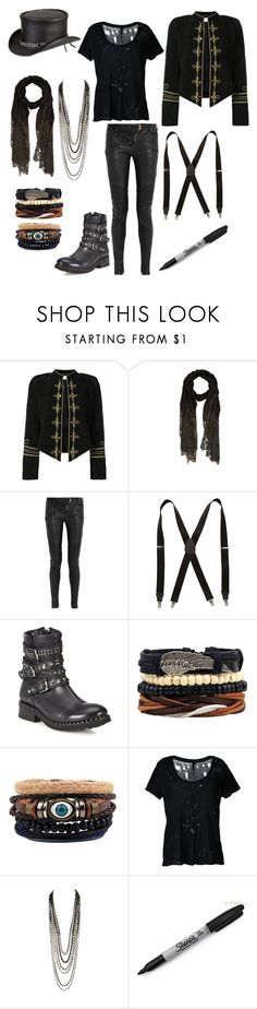 """""In Death We Trust: Enter The Void"" (video in the description)"" by serenity-sempiternal2006 ❤ liked on Polyvore featuring Yves Saint Laurent, Valentino, Balmain, Stacy Adams, Ash, Unravel, Sharpie, Overland Sheepskin Co., men's fashion and menswear"