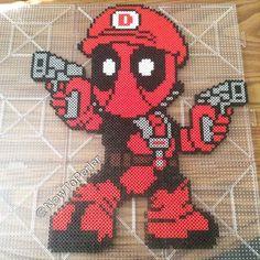 Mariopool (Deadpool mashup) perler beads by newtoperler.....<3 omg I love this lol