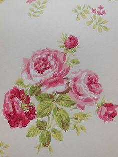 Cath Kidston wallpaper Old White Rose Bouquet