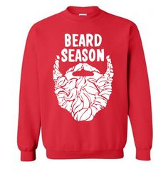 Beard Season Funny Christmas Sweater Flex Fleece Pullover Classic Sweatshirt - S M L Xl and Xxl (Color Options)