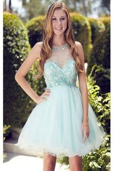 Light Blue Homecoming Dress,Tulle Homecoming Dresses,Homecoming Gowns,Beaded Party Dress,Short Prom Gown,Sweet 16 Dress,Cheap Homecoming Dresses