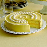 For Easter dessert, doesn't a gorgeous frosted lemon cake sound wonderful?  Great recipe at Country Living.