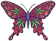Butterfly Tattoo Photo by klhoek Butterfly Sketch, Butterfly Painting, Butterfly Art, Butterflies, Weed Tattoo, Leaf Tattoos, Body Art Tattoos, Tatoos, Street Art
