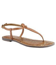 Gigi T-Strap Patent Leather Sandals BsVngk