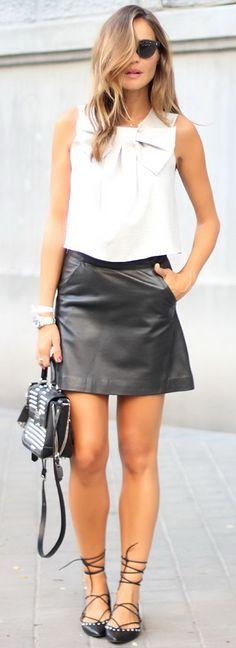 Black Leather Mini