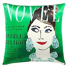 image of kate spade new york Dazzle and Delight Square Throw Pillow in Green/Multi
