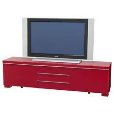 BESTÅ BURS TV unit - high gloss red - IKEA    I think this could make a really cool head board