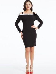 Slash Neck Cold Shoulder Dress for just ₹1551.03.