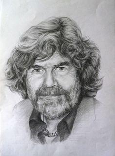 Reinhold Messner portrait drawing