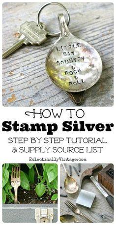 Stempelset zum prägen von Silber