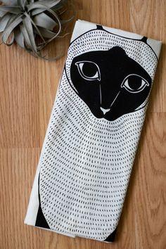 Siamese Cat Tea Towel by Gingiber