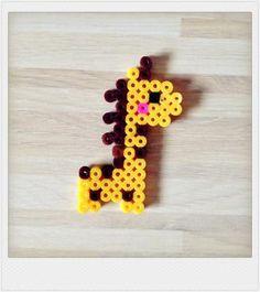 Pyssla bead Yellow Giraffe Baby charm