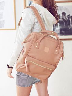 dreamv | Rakuten Global Market: Bag anello Anello A4 size storage OK commuter school, large faux leather CAP and backpack handy rucksack classy smooth student Mama's outdoor casual and increasingly available / black ivory pink beige white/f! Women's dream vision