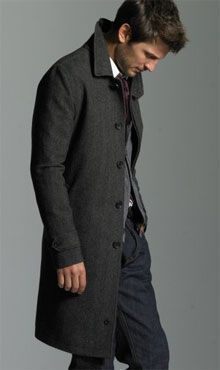 Don't be afraid to wear a topcoat with jeans. Men can do high/low fashion, too. Make sure your topcoat has a good lining. If the lining doesn't seem to quite fit the coat, don't buy it (Men's Winter Coat Guide - Tina Adams Wardrobe Consulting) #mensjeansguide