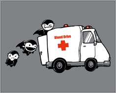 Vampire blood drive shirt